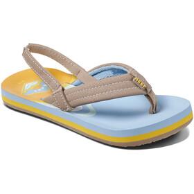 Reef Ahi Sandały Dzieci, niebieski/żółty